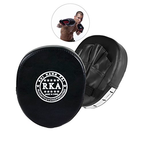 Freshday Boxing Training Hand Target Punching Focus Mitt, Black Hand Wraps Boxing Training Pads