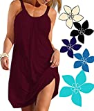 Ecolley Sleeveless Summer Beach Dresses for Women Bikini Swimsuit Spaghetti Strap Cool Size L