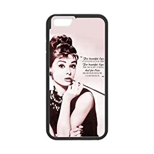 7 Installed Audrey Hepburn Scratch-Resistant Protective Hard Cover for iphone 6 4.7(6 4.7)