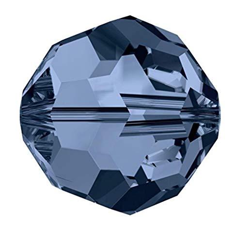 (50pcs x Preciosa Round Crystal Beads 8mm Montana Compatible with Swarovski 5000 Crystals Pre2R820)