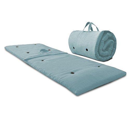 mattress roll. duck egg blue roly poly futon sleeping mattress - roll up/ zip guest