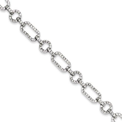 Icecarats Créatrice De Bijoux En Argent Sterling Lien Cz Bracelet En 7,25 Pouces