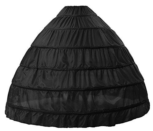 Negro bola los de crinolina la Seis Emily boda Beauty de la la de enagua de falda de aros la BHUCtqwtPc