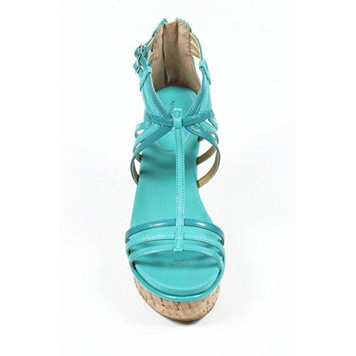 Light Blue Compensées West Sandales Espadrilles Nine Femmes Nwromancing xqBwvTY0