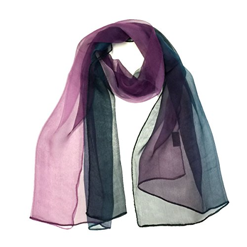 Wrapables Silk Blend Long Scarf, Midnight Indigo - Indigo Silk Wrap
