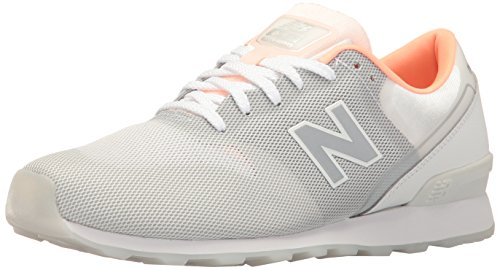 New Balance Women 696 Re-Engineered Lifestyle Fashion Sneaker Grey/White
