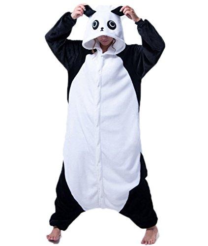 Adult Women and Mens Onesies Kigurumi Panda Onesie Cosplay Costumes Pajama Party Wear (Adult Panda Onsie)