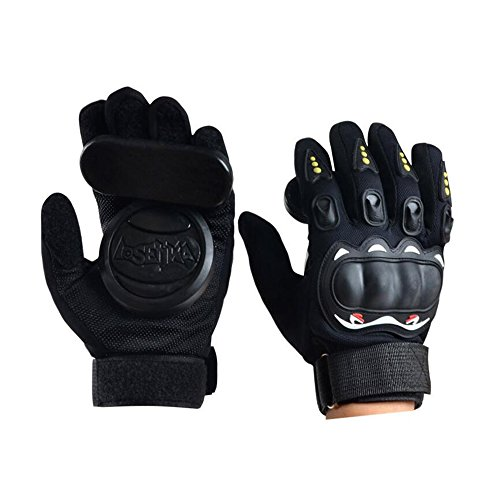 - Adult Longboard Gloves Downhill Slide Gloves - Slide Gloves with 2 Set Replaceable Slider Puck Set