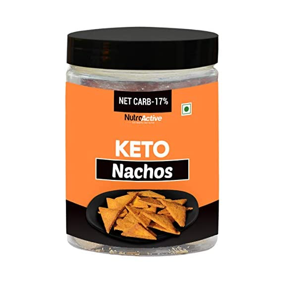 NutroActive Keto Nachos Extremely Low Carb Snacks- 175g