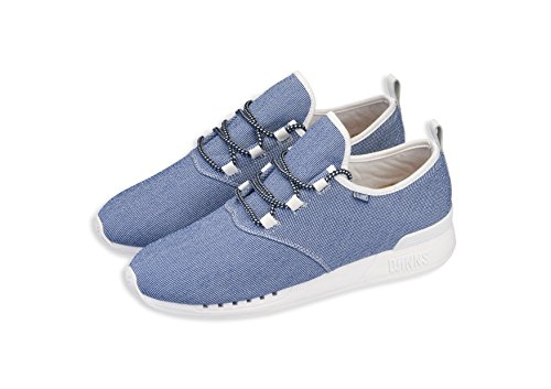 Djinns Schuhe MocLau Sucker Piquee Unisex Shoes blue white 39