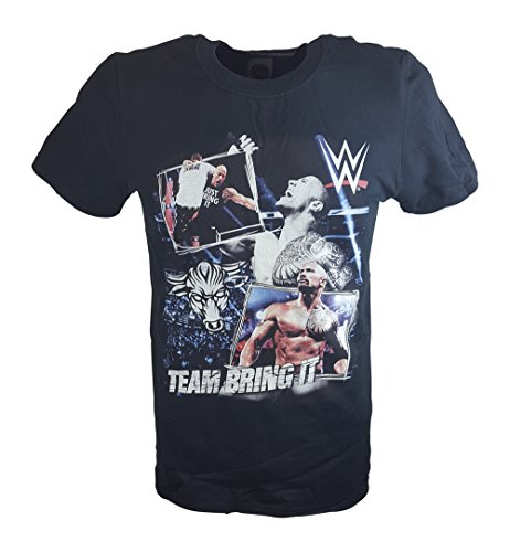 The Rock Team Bring It Superstars WWE Mens Black T-shirt-XXL by WWE