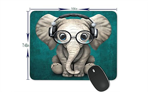 PROEVER Cool Funny Elephant Mouse Pad Game Office Thicker Mouse Pad Decorated Mouse Pad