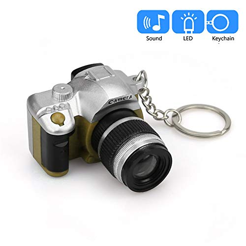 Price comparison product image Emerayo Cute Mini Camera Keychain with LED Light and Sound Keyfob Kids Toy Gift (Green,  One)