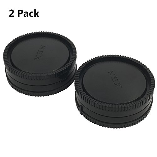 LXH 2 Pack Front Camera Body Cap and Rear Lens Cap Cover for Sony E-Mount NEX Mirrorless Sony Alpha A6500 A6300 a6000 a5100 a5000 a3000 A7R2 A7S2 A7S A7R A7 A7II NEX-7 NEX-6/5T/5R/5N/5C/F3