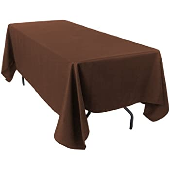 Ordinaire LinenTablecloth 70 X 120 Inch Rectangular Polyester Tablecloth Chocolate