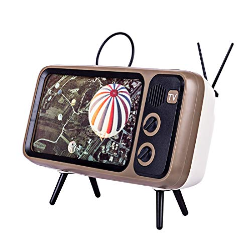Goshfun PTH800 Retro tv Mobile Phone Holder, Retro TV Shape Phone Stand Accessories, Desktop Cell Phone Stand for Phones with 4.7-5.5 Inch Screen, Coffee from Goshfun