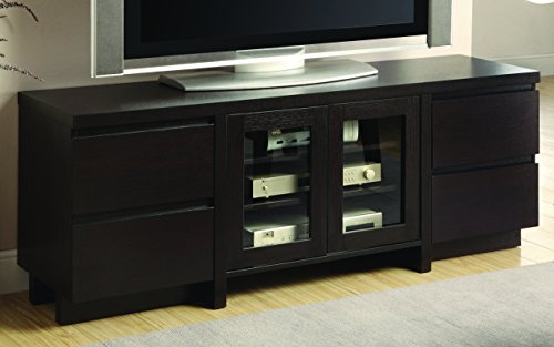 Coaster Home Furnishings Contemporary TV Console, Cherry - Cherry Media Center