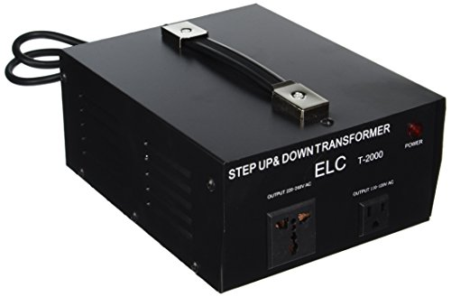ELC T-2000 2000-Watt Voltage Converter Transformer - Step Up/Down - 110V/220V - Circuit Breaker Protection (Voltage Transformer Uk)