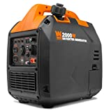 WEN 56203i Super Quiet 2000-Watt Portable Inverter Generator w/Fuel Shut Off, CARB Compliant, Black