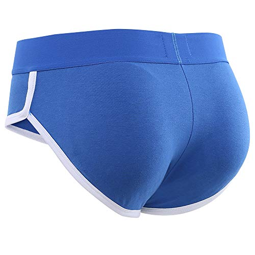 BRODDLE Mens Padded Underwear Briefs with Padded Enhancements for Front and Rear Blue (Best Mens Enhancing Underwear)