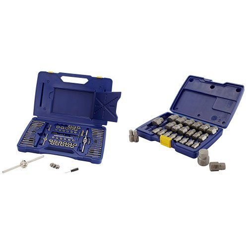 IRWIN Tools Machine Screw/Fractional/Metric Tap and Hex Die Set and Hex Head Multi-Spline Screw Extractor Set