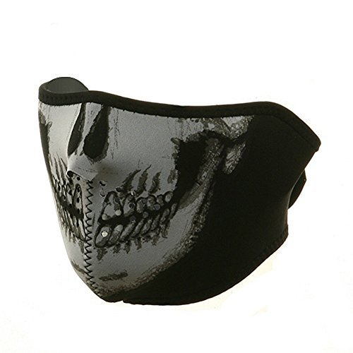 ZAN Headgear 1/2 Face Neoprene Mask Glow In The Dark ()