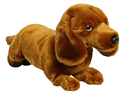 Amazon Com Carl Dick Dachshund Dog Brown 10 Inches 25cm Plush Toy