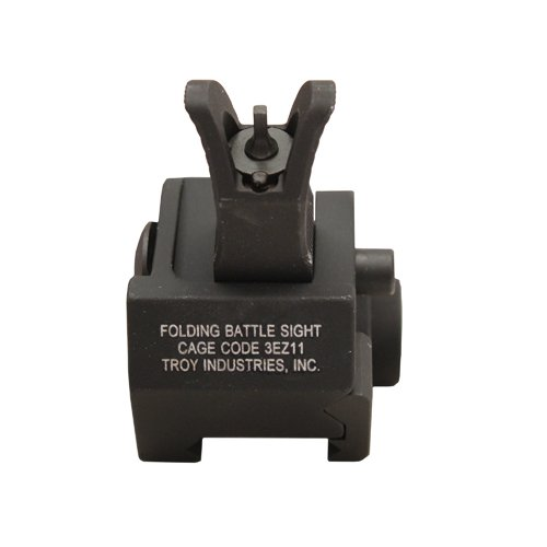 Troy Industries Front M4 Fld Gas Block Sight Blk by Troy Industries