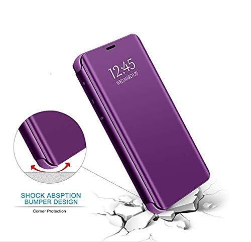 Xinglong Funda Compatible para Xiaomi Redmi Note 8,Carcase Xiaomi Redmi Note 8 Flip de Espejo,Inteligente Translucent Case Caso Skin Stand Shell 360/°Full Body Protecci/ón Plating Cover Morado