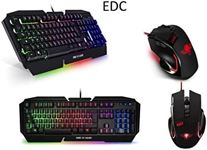 Pack Teclado Gamer retroiluminación LED RGB Chassis Metal Anti ...