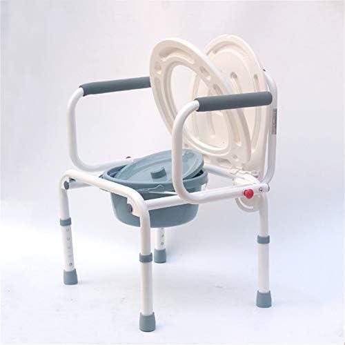 介護用ポータブルトイレ椅子 簡易 便座 トイレ ポータブル 折り畳み式 椅子 高さ調整可 折り畳みタイプ 高齢者 折りたたみ 防災・介護用
