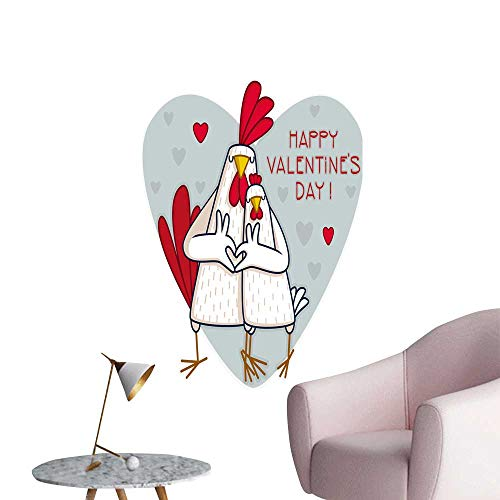 SeptSonne Vinyl Wall Stickers Cartoon Cock Hen Symbol Chinese New Year The Rooster Perfectly Decorated,16