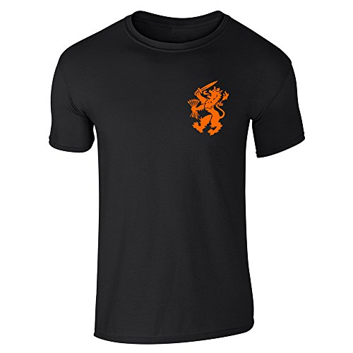 Dutch Soccer Retro National Team Halloween Costume Black XL Short Sleeve T-Shirt ()