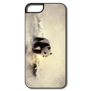 IPhone 5S Cases, Panda Fog Cover For IPhone 5S - White/black Hard Plastic