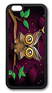 iPhone 6 Plus Cases, Cute Owl Durable Soft Slim TPU Case Cover for iPhone 6 Plus 5.5 inch Screen (Does NOT fit iPhone 5 5S 5C 4 4s or iPhone 6 4.7 inch screen) - TPU Black
