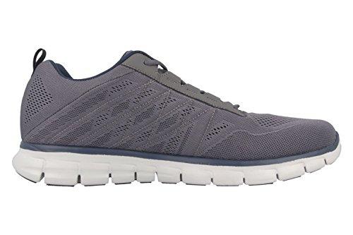 SKECHERS - Power Switch - Herren Sneaker - Grau Schuhe in Übergrößen