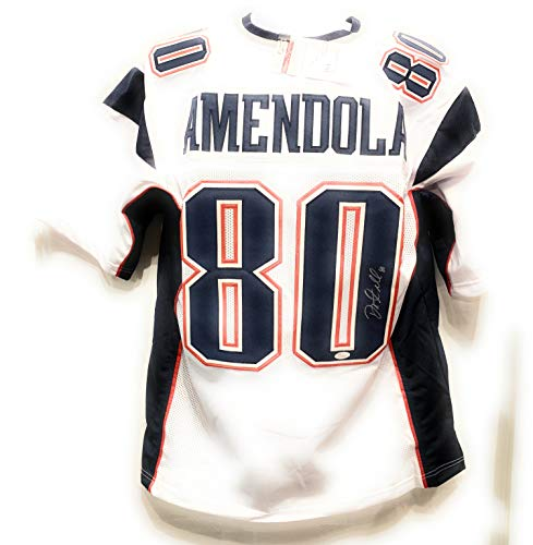 Danny Amendola New England Patriots Signed Autograph White Custom Jersey JSA Certified