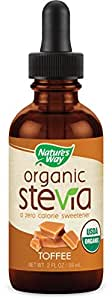 Nature's Way Organic Stevia Toffee Supplement, 2 Ounce