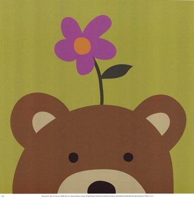 Peek A-boo Vi Bear - Peek-A-Boo VI Bear by Jin Lau - 12x12 Inches - Art Print Poster