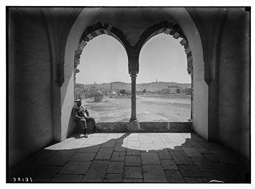 1934 Photo View of Olivet through arches of Moslem [i.e., Muslim] Supreme Council. by Historic Photos