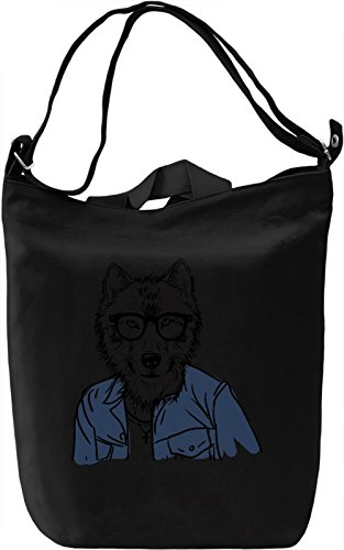 Hipster wolf Borsa Giornaliera Canvas Canvas Day Bag| 100% Premium Cotton Canvas| DTG Printing|