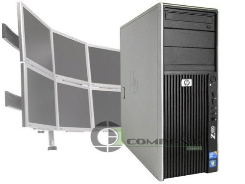 HP Z400 Trading Desktop Conputer with 6 Monitor Support Intel Xeon DC 2.53 GH... (Trading Computer 6 Monitor)