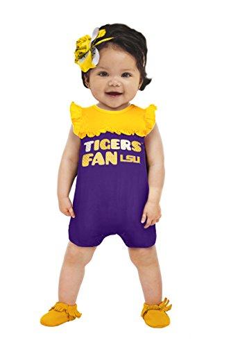 NCAA Lsu Tigers Girls Contrast Jumper, 0-3 Months, Purple