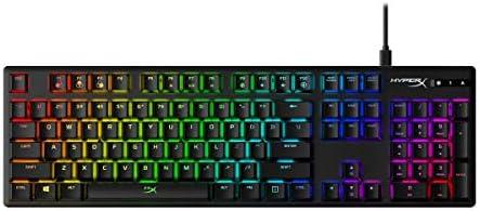HyperX Alloy Origins - Teclado mecánico para Videojuegos, RGB, Teclas HyperX Blue Mecánicas, Carcasa de Aluminio Duradera, Personalización Avanzada, ...