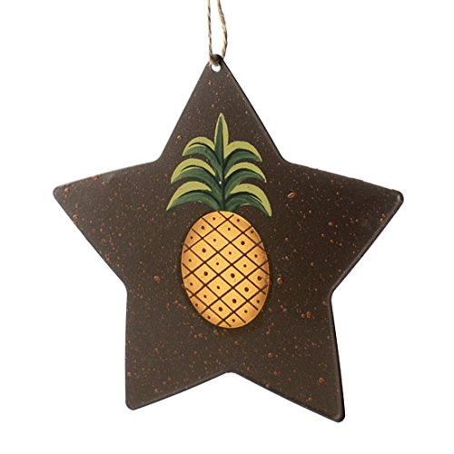 Factory Direct Craft Primitive Rustic Star with Pineapple Ornament | 6 Pieces