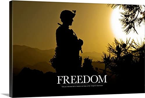 Freedom Premium Thick-Wrap Canvas Wall Art entitled Military Poster