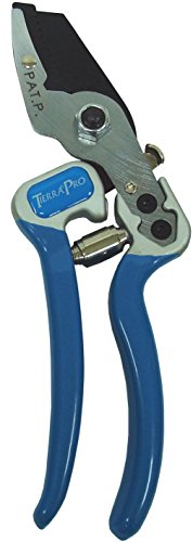 Forged Anvil Pruner - Tierra Garden 38-1711 Pro Anvil Pruner with Drop Forged Aluminum Handle and PVC Grips, 8-1/2