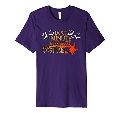 Cute Minute Costumes Halloween Last (Mens Funny Cute Last Minute Halloween Costume Witch Bats Shirt 2XL)
