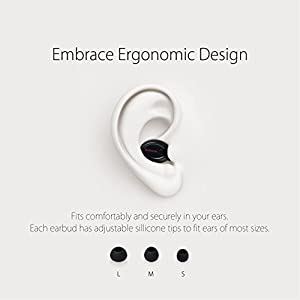 GoNovate G8 Bluetooth Earbud, 6 Hour Playtime w/ 2 x Magnetic USB Chargers, Mini Wireless Headset In-Ear Earphone with Mic for iPhone, Samsung Galaxy (1 Piece)
