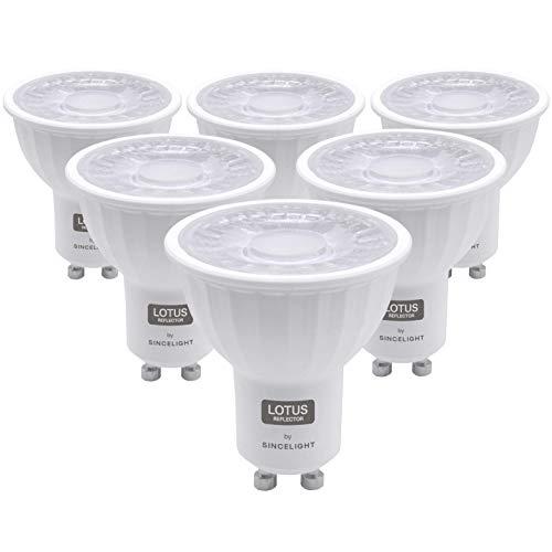 SINCELIGHT GU10 LED-lichtreflector 60° stralingshoek, 6W, RA≈92, Neutraal wit 4000K, niet-dimbaar, 550 lumen equivalent…